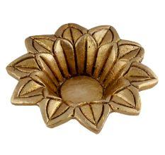 Hindu religious Brass Open Flower Oil Lamp