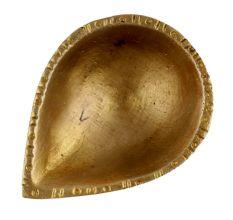 Brass Single Wick Traditional Brass Oil Diya