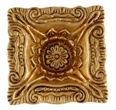 Brass Carved Square Shaped Oil Lamp Festival Decoration Diya