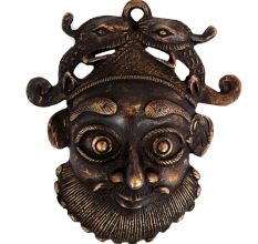 Brass Face Mask Wall Hanging