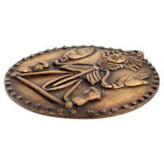 Round Brass Himalayan Art Wall Hanging Plate