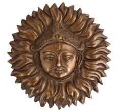 Brass Sun God Face Wall Hanging