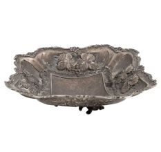 Silver Fruit Tray In White Metal