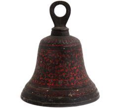 Brass Colored Engraved Big Bell For Temple