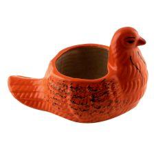 Orange Ceramic Duck Pot Planter For Flowers