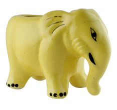 Hand painted Ceramic Yellow Elephant Planter Pot For Plants