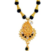 Indian Traditional Necklace with Gold platted Lakshmi Pendant