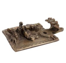 Hand made Brass Wall Hanging Lord Ganesha and Cobra Hood