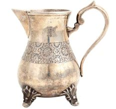 Brass Milk Jug With Floral Engraving