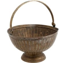 Round Fluted design Flower Bucket with Handle