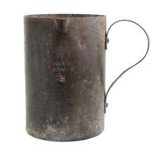 Oriental Bombay Engraved Brass Measuring Jug Side Handle