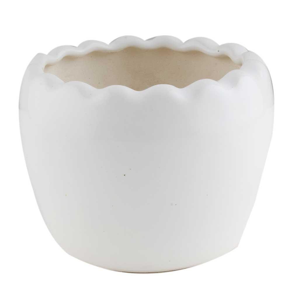 White Ceramic Indoor Plant Stand
