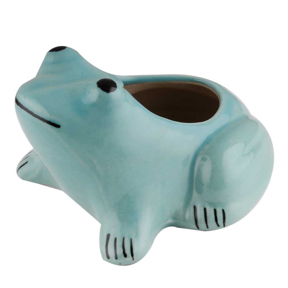 Hand made Ceramic Blue Pot For Outdoor Plants