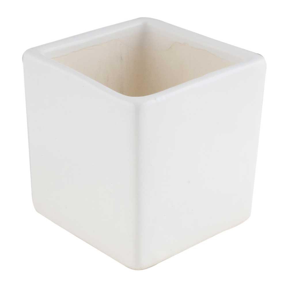 Modern White Ceramic Planter Pot