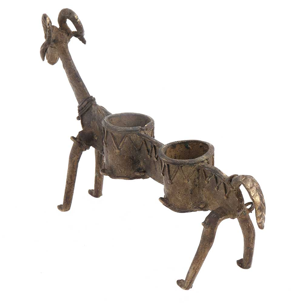 Long Goat Animal Twin Incense Or Candle Holder