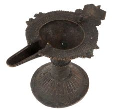Brass Oil lamp Dhokra Tribe Handcrafted Oil Lamp