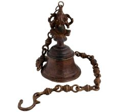 Brass Hanging Ganesha Bell With Chain