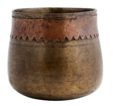Vintage Brass Grain Measuring Cup