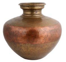 Brass Copper Ganga Jamuna Water Pot