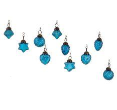 Royle Blue Combo Glass Tiny Christmas Hanging Set of 25