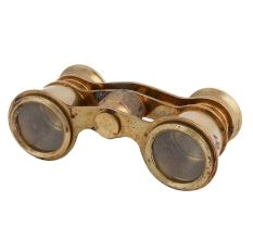 Brass Binoculars Or opera Glasses Rare Collectables