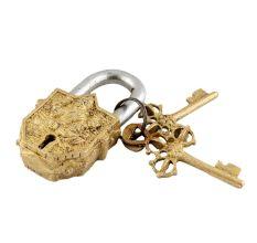 Brass Ganesha Decorative Lock With Keys In Pair