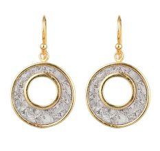 92.5 Sterling Silver Circle Earrings Pave Snakeskin Drop Earrings