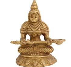 Brass Annapurna Devi  Statue Holding Serving Spoon