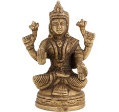 Brass Goddess Parvati Blessing Pose Statue
