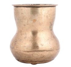 Golden South Indian Hour Glass Shaped Milk Pot