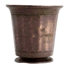 Old Brass Glass Tumbler With Round Base