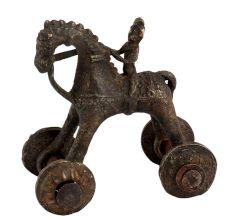 Home Decorative Old Temple Toy Of Horse With A Rider