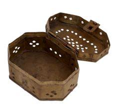 Brass Nicely Aged Incense Holder Cricket Storage Box