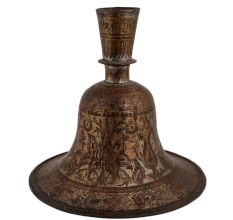 Indo Islamic Handcrafted Brass Hookah Base Mughal Style