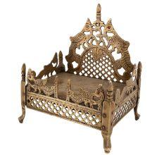 Brass Religious Throne Singhasan For God And Goddess
