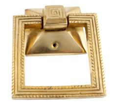 Brass Square Ring Door Pull Modern Hardware