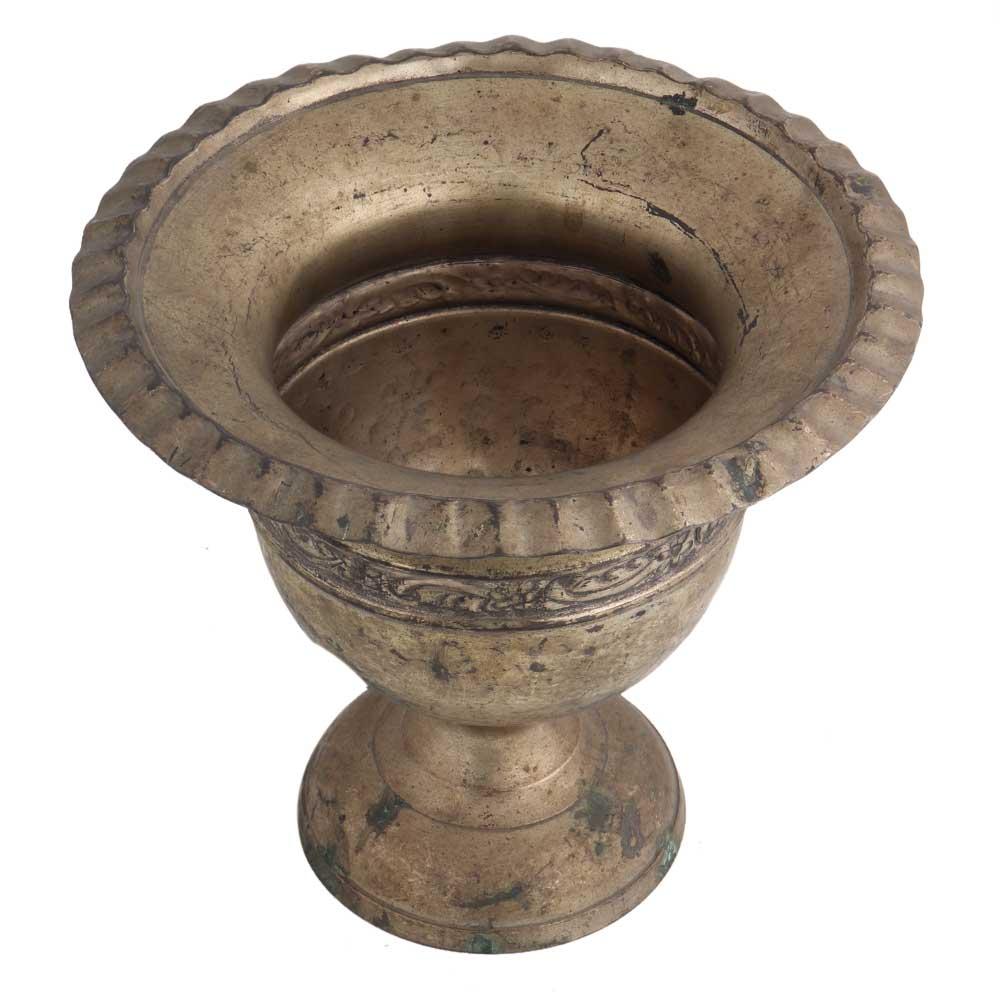 Brass Urn Shaped Planter Pot