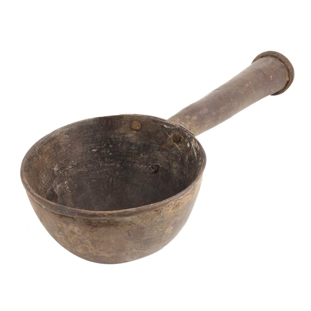 Brass Pooja Water Spoon Ritual�Spoon With Thick Handle