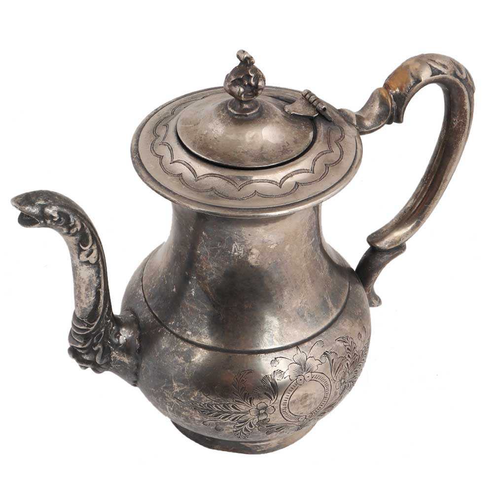 Brass Kettle Tea Pot�With Decorative Handle With Nickel Plating