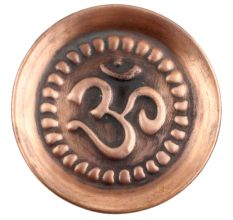 Om Engraved Brass Pooja Plate Thali