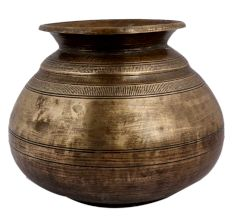 Brass Holy Water Pot With Delicate Carved Design
