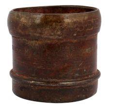 Old Used Brass Grain Measuring Cup 1/8 Seer Engraved