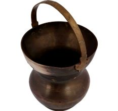 Golden Brass Kamandal Holy Water Pot With Handle