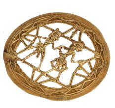 Brass Dhokra Wall  Art Tribal Couple For Wall Decoration
