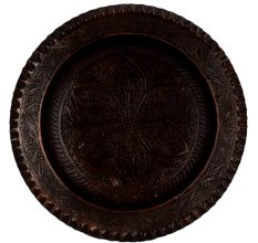 Big Flower Engraved Copper Plate Wall Hanging