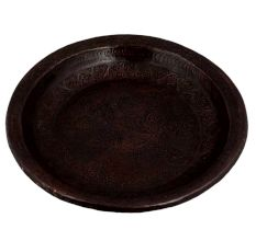 Hand Mad Copper Floral Plate For home Decoration