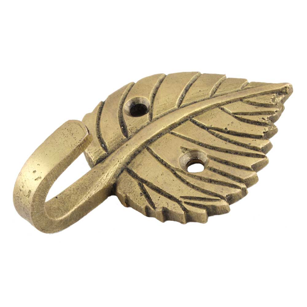 Brass Single Leaf Wall Hook For Home decoration