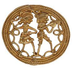 Round �Brass Wall Art Hanging Of Musicians