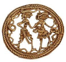 Brass Dhokra Art Rectangle Wall Hanging