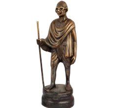 Standing statue of Mohandas Karamchand Gandhi
